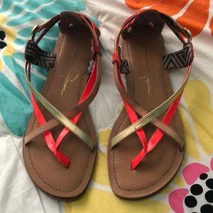 Jessica Simpson sandals in orange